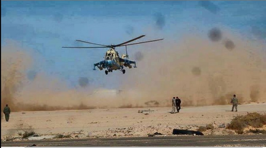 arrival of our copter-fighter pilots to Ras Lanuf Airport