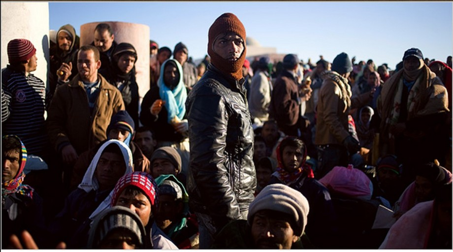 Libyan refugees to Italy