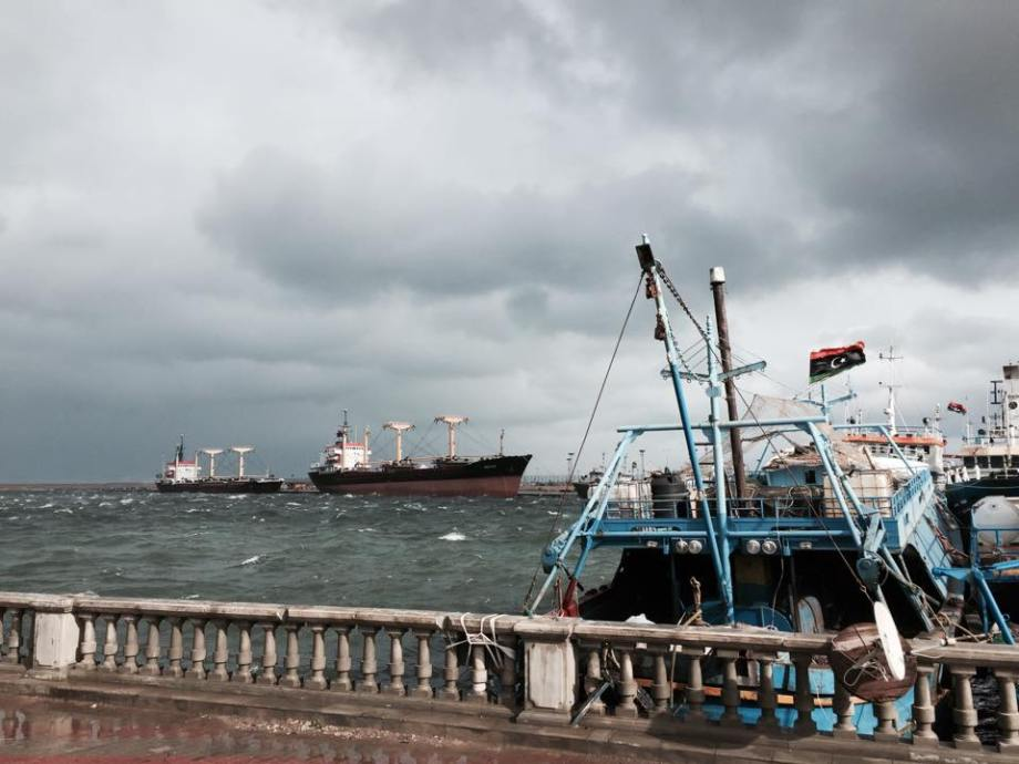 Port of TRIPOLI, bad weather 31 DEC. 2014