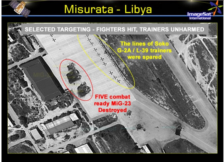 destroying 2 MIG-23 aircraft MITIGUA airbase by LIBYAN AIRFORCE