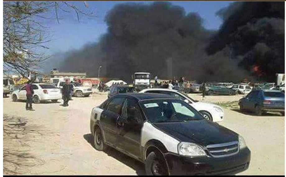explosion of a gas station in the Shiha area ofDerna