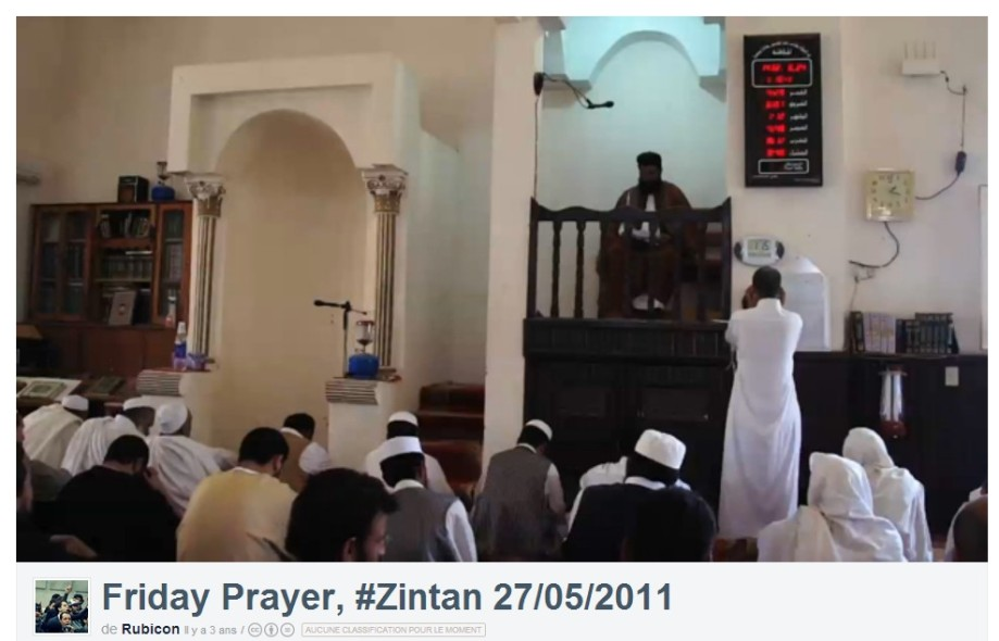 Friday prayer in Zintan from Vimeo video