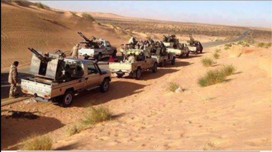 LIBYAN ARMY on the south outskirts of  corner, 2