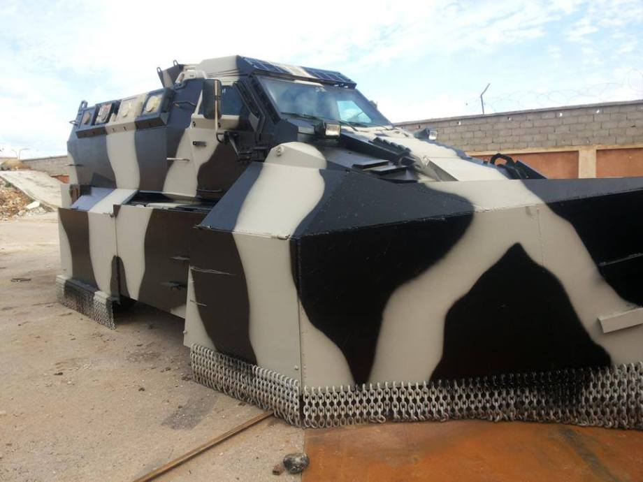 New armored vehicles enter service in Benghazi for the Special Forces 'THUNDERBOLT'  21st Division 'Salah Bohlaiqah', 4