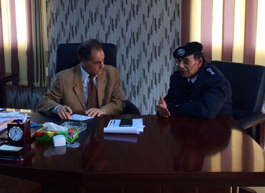 CASABLANCA Security Directorate Omar al-Sanka spoke with Manager Colonel Directorate security locked Abu Zahra