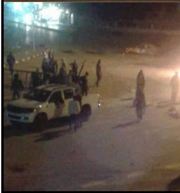 Fashloum street closed and terror
