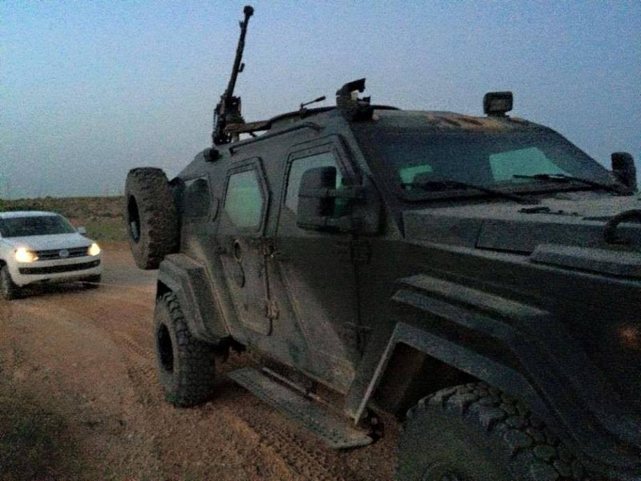 armored car recovered by Libyan Army