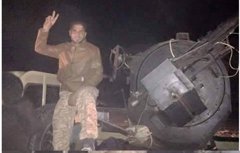 before dawn, in front of the band camp al-Rabah, our 'Fourth Brigade' of the Libyan Army, at Azizia