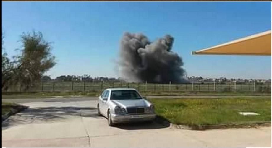 bombing MITIGUA AIRBASE