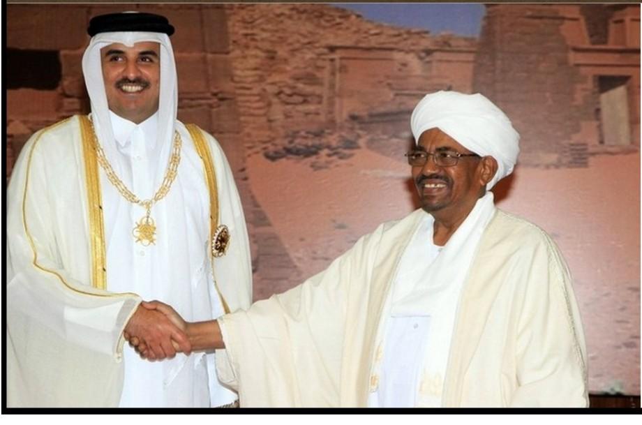 Brotherhood leaders HAMAD and BASHIR (QATAR and SUDAN) at Arab summit