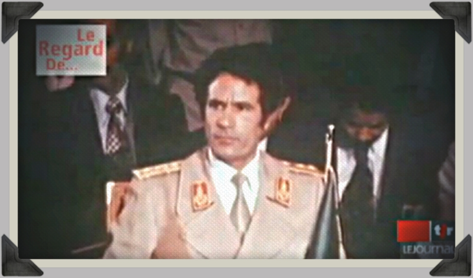 Gadhafi relinguishes power to his people 1977