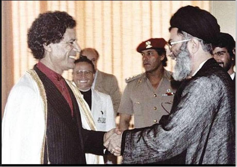 IMAM MU'ammar greets IMAM ALI, 1986