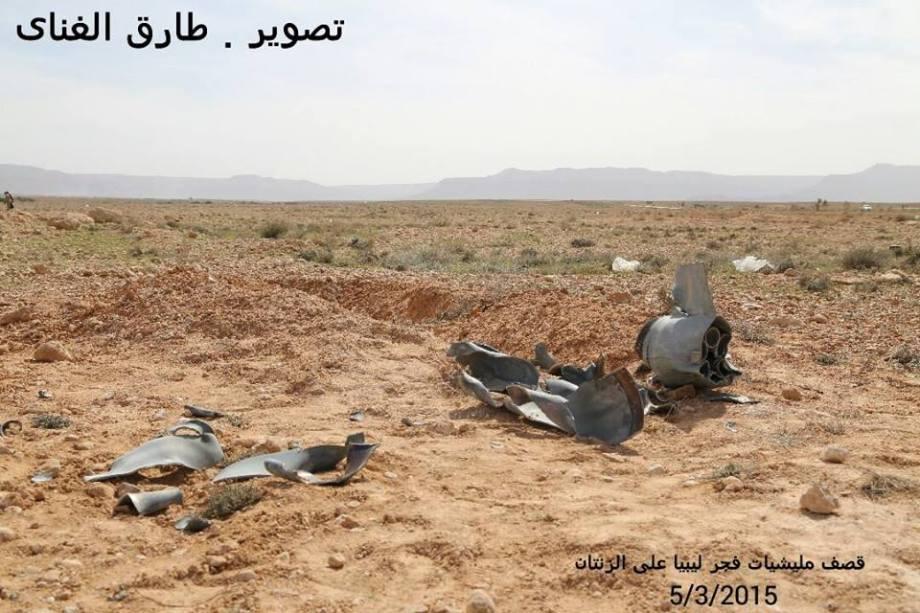 KHADAFA WATER-WELLS bombs by MISURATA AIRSTRIKES, north of ZINTAN