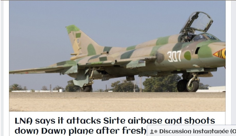 Libyan Airforce airplanes launch three raids targeting al-KARZABIAH (GHARADABIYA) airport Bae in SIRTE