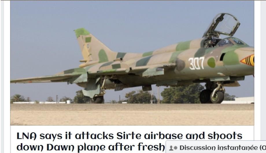 Libyan Airforce airplanes launch three raids targeting al-KARZABIAH (GHARADABIYA) airport Bae in SIRTE