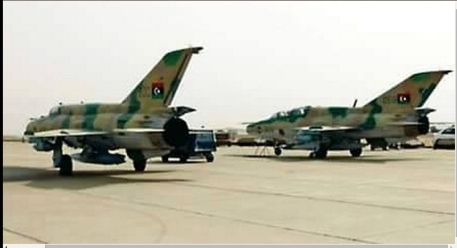 Libyan airforce bombs southern corner