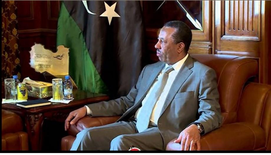 Libyan Prime Minister Abdullah 'bending' al-Thani