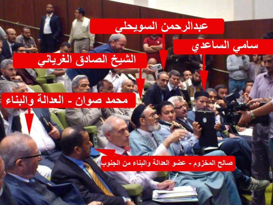 meeting between some leaders of the Libyan Brotherhood