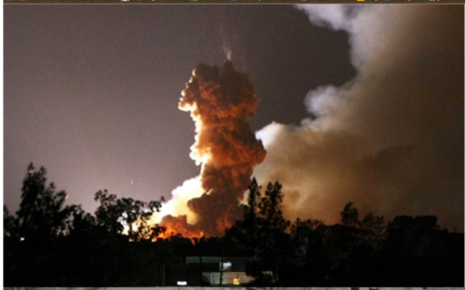 NATO-bombing-of-Majer, Zliten, Libya 2011