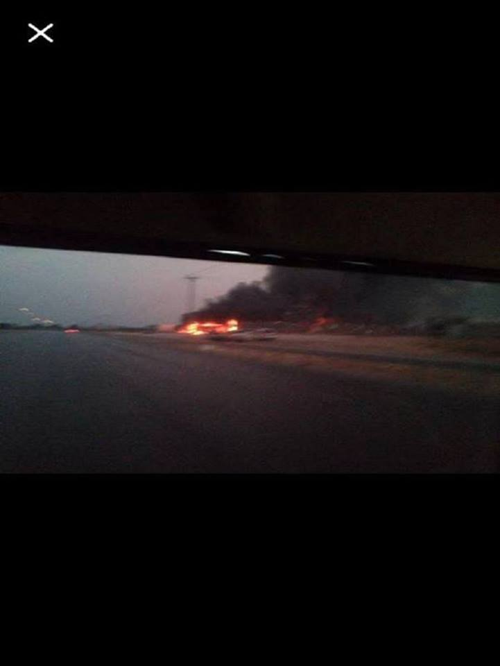 airport road targeted by 'Roma Libya'