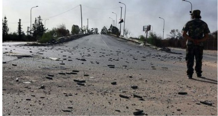 airport road, Tripoli, is littered w bouillon