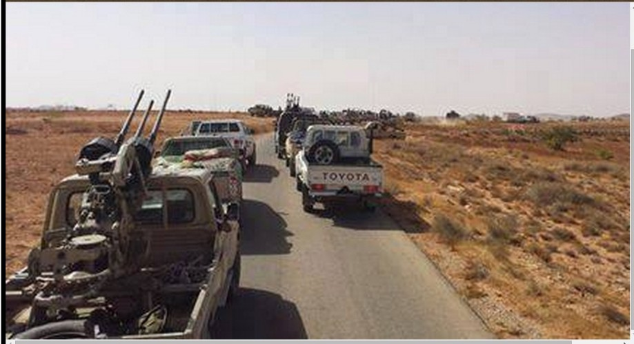 Army forces and support troops advance morning Tabuth pace toward Gharyan