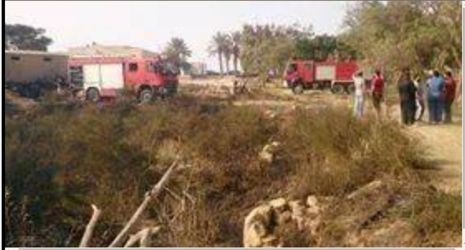 Fire park raised in Sabratha Hedda
