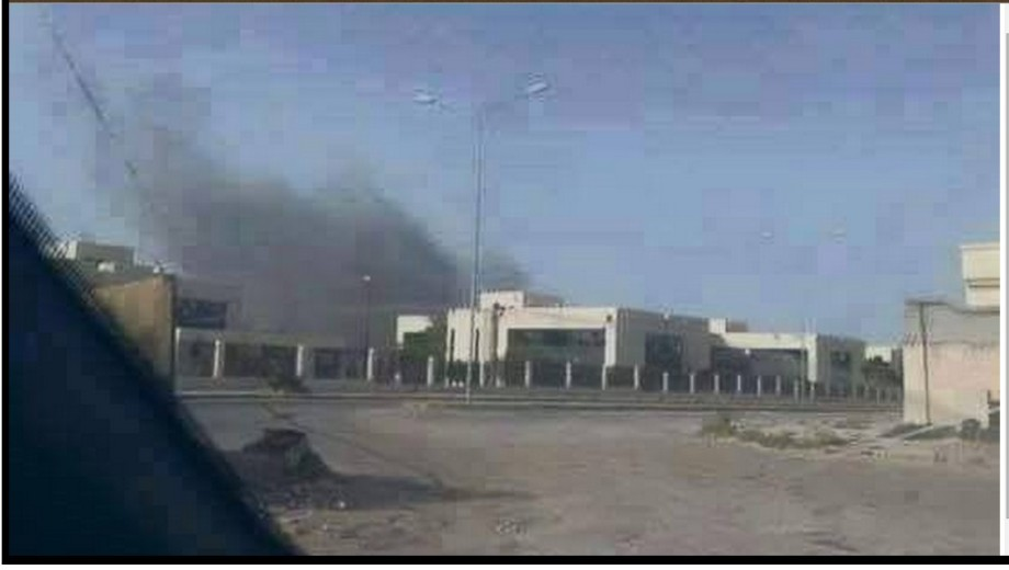 Libyan airforce bombing complex Acadoqgua in Sirte and other rat holes