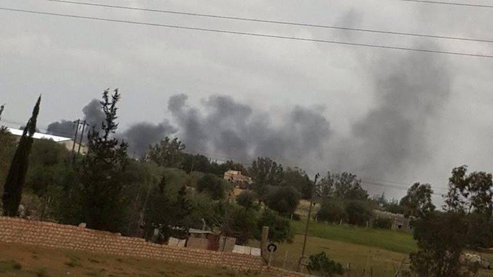 Libyan airforce warplanes bombed SIDI FARAJ, Benghazi
