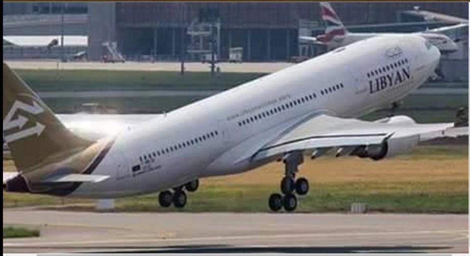 Libyan International airliner at Zintan International Airport