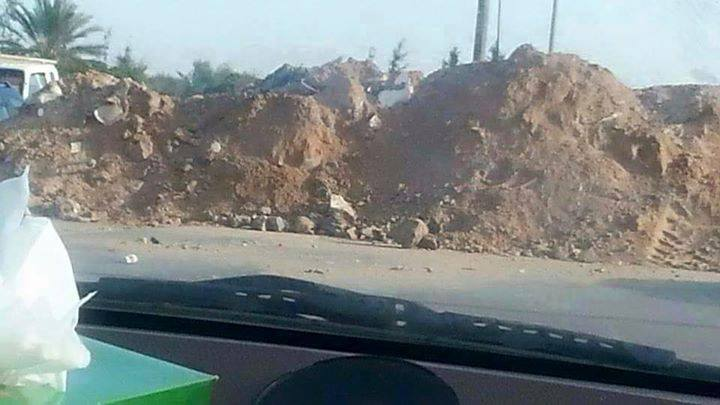 'Roma Libya' militias are developing earth mounds on four streets of Sidra area access accidental to Aiwieshh and Rishvana