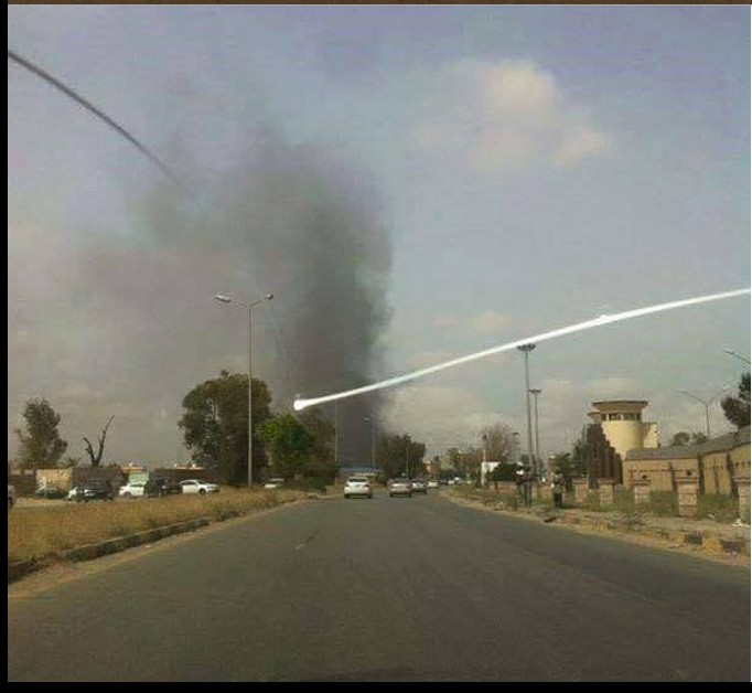 smoke coming from Yarmouk Camp in Spring Valley 21 APRIL 2015