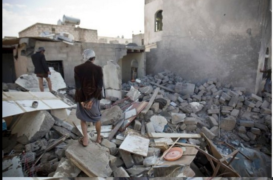 The destruction of civilian homes and infrastructure in Yemen is similar to what happened in Libya