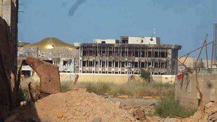 what is left of Garyounes University in Benghazi