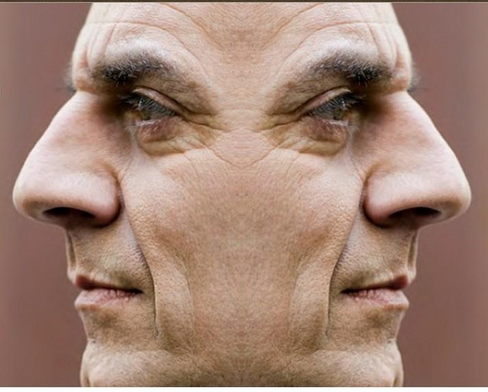 2 faced