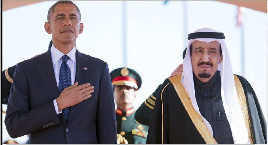 2 WAHABI LEADERS, Obama and Saudi Arabian King Salman bin Abdul Aziz