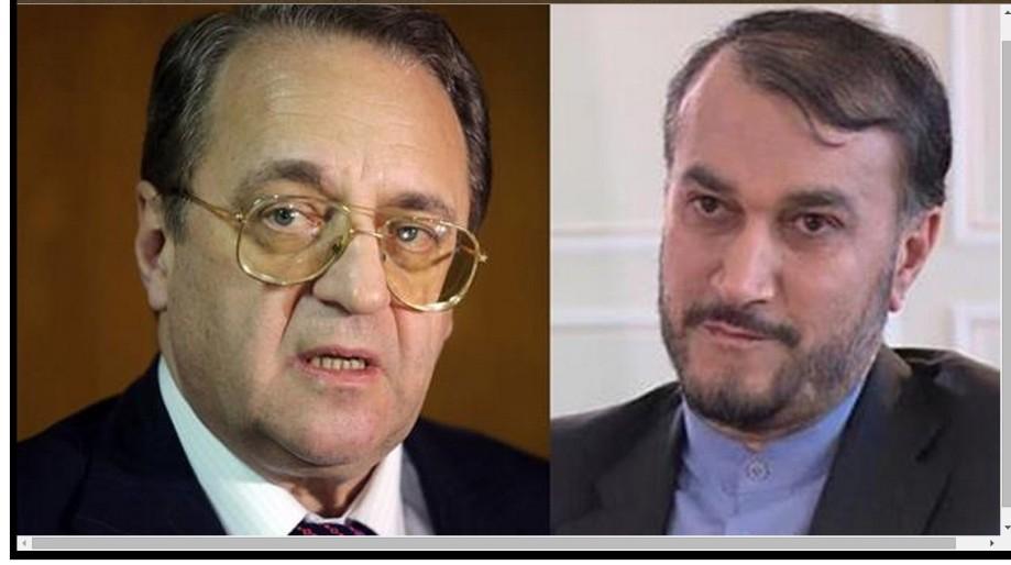 Affairs Hossein Amir-Abdollahian and Russian deputy Foreign Minister Mikhail Bogdanov