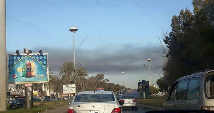 fire near 'Righteous Street' mosque in Tripoli