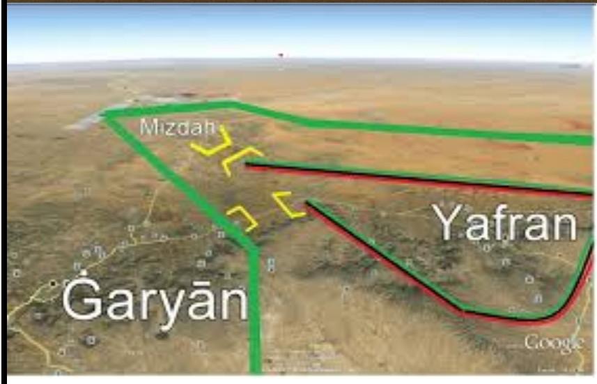 Gharyan, Ifrane and MIZDAH global Google view