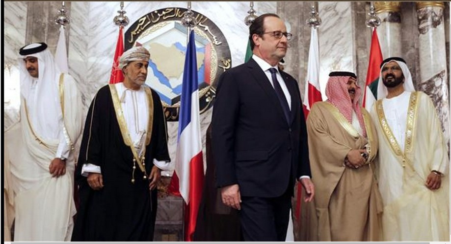 Hollande  attends a summit of the [Persian] Gulf Cooperation Council in Riyadh, Saudi Arabia on 05 May  2015