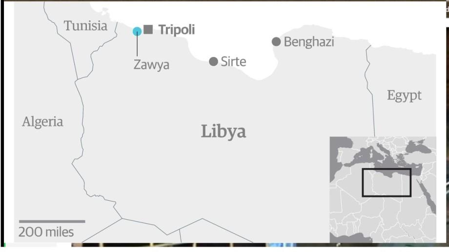 Libya-Zawya-map