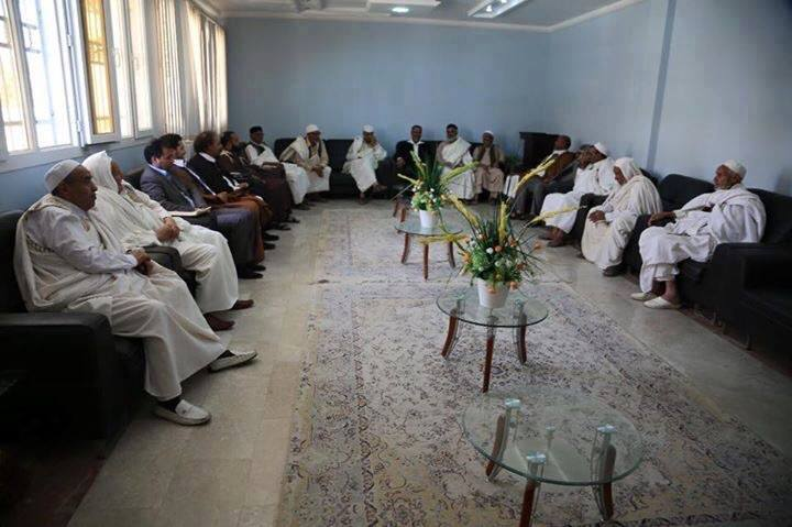 Meeting between the Municipal Council and the Council Gharyan with  A.al-Bulda of Zintan, under the auspices of the General Secretariat of the Council delegation Hyuh Libya, 3