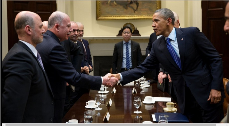 Obama and Sewan cut a deal at the White House in Washington, 22 January 2014