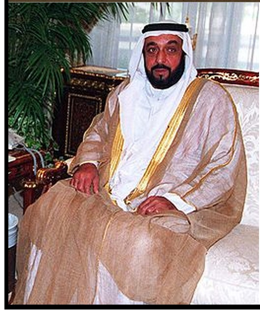 President of the UAE, Khalifa Bin Zayed al-Nahyan