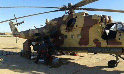 rat copter bombs Libyan Army in Western Region