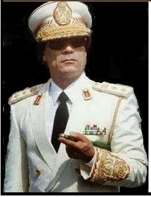 The colonel in white
