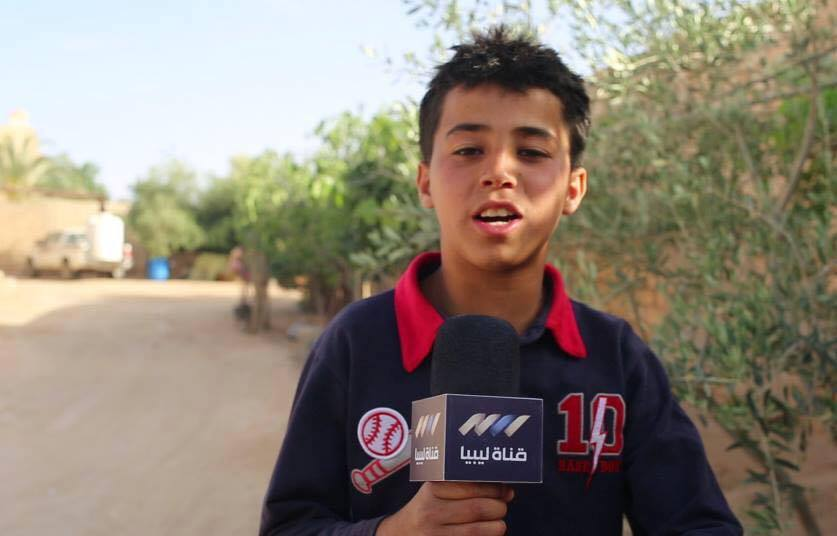 thirteen years old Ahmed Dwaib from Zintan city