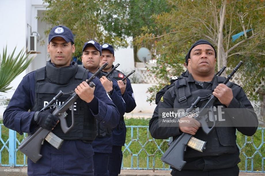 Tunisian border security guards
