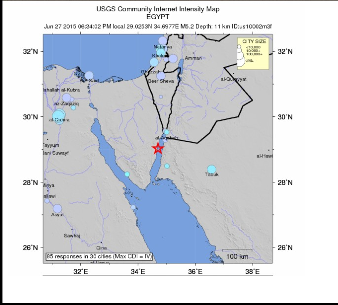 Cairo Earthquake 27 June 2015