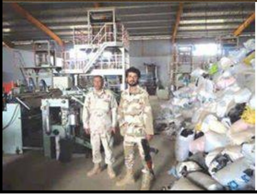Colonel Ali Drissi al-Hlmana battalion commander '132 Tolmeitha, at the HAWARI CEMENT FACTORY in BENGHAZI